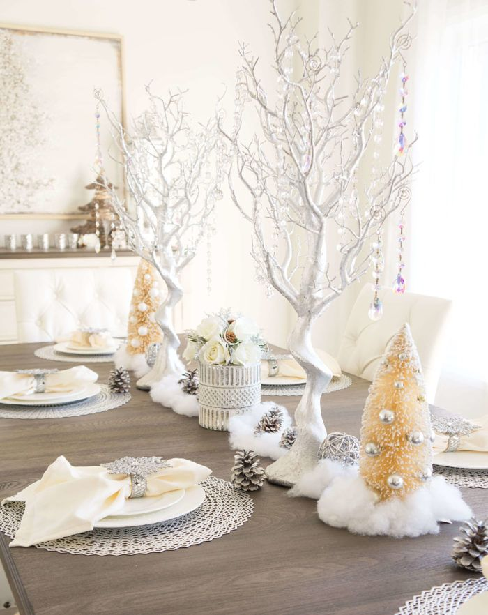 Winter Wonderland Tablescape With Images Winter Wonderland