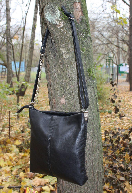 Купить Черная сумочка кросс-боди на длинном ремешке - сумочка кросс боди