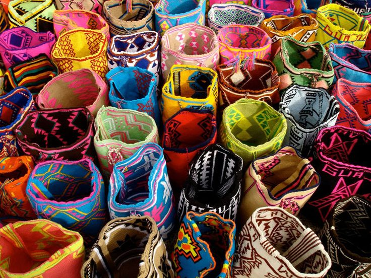 Purchases of these susu woven bags benefit the Wayuu Taya foundation which educates kids in Latin America.