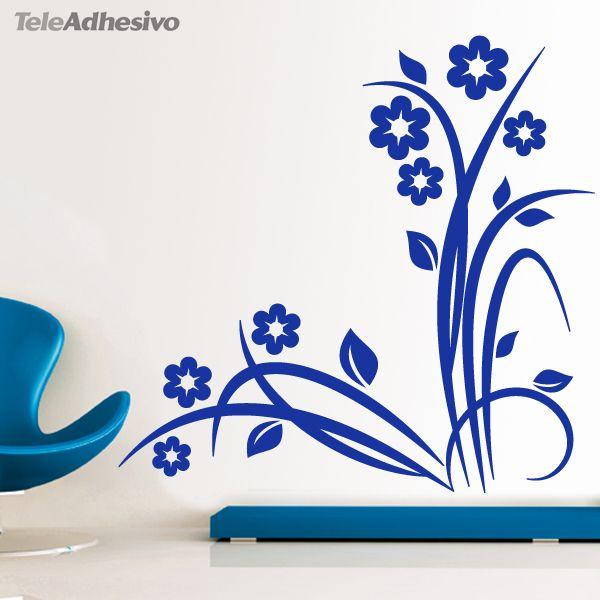 84 best vinilos decorativos florales images on pinterest for Stickers decorativos