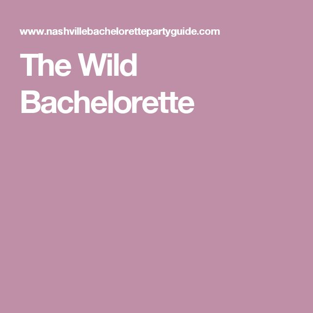 The Wild Bachelorette