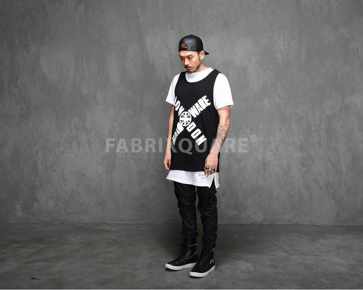 Mens LDN. H. Large Logo Vest Tanktop at Fabrixquare $27