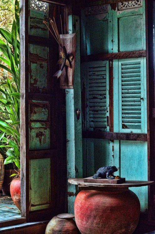 ulfgbohlin: ULF G B☮HLIN • InteriorDesign: Old Thai House (via s-media-cache)