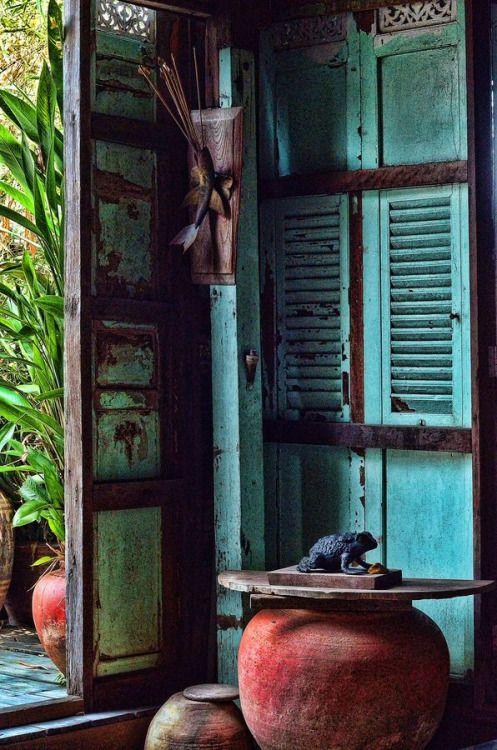 ulfgbohlin:  ULF G B☮HLIN • InteriorDesign: Old Thai House (via s-media-cache)