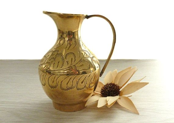 Small vintage brass flower vase antique brass by TheRustEmporium, £7.50