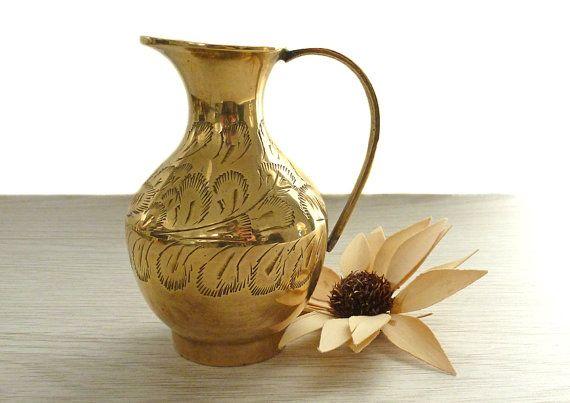 Small vintage brass flower vase antique brass by TheRustEmporium, £7.50