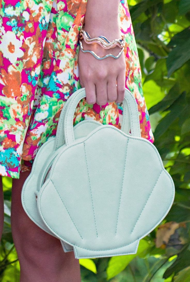 Seashell Purse https://sincerelysweetboutique.com/bags/seashell-purse.html - #seashellpurse #seashell #sincerely-sweet -  mint mermaid seashell bag