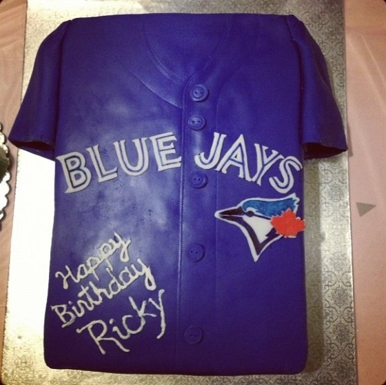 Ricky Romero birthday cake via http://bluetoro.ca