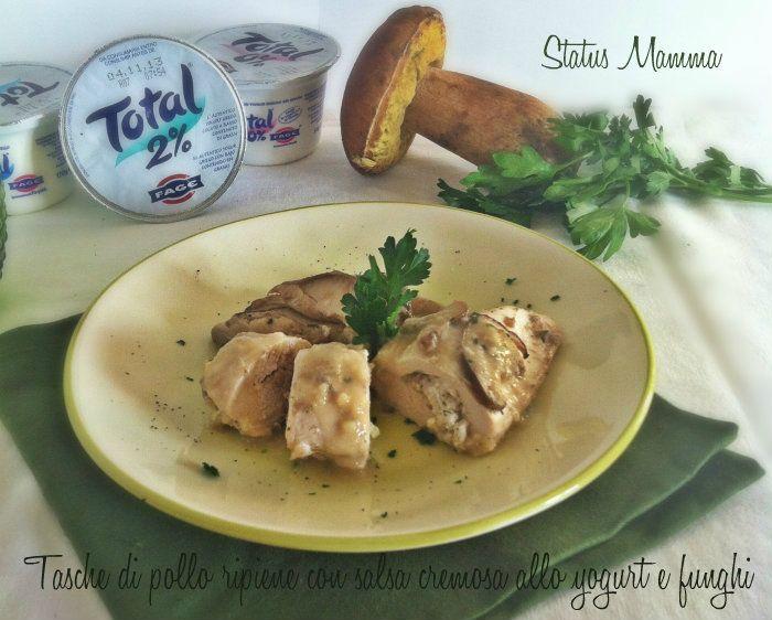Salsa cremosa allo yogurt greco e funghi, da abbinare ad hamburger vegetariano o polpette vegan (NON AL POLLO come nella foto!!)