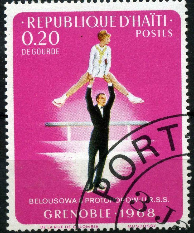 Bélyeg: Figure Skating (Haiti Köztársaság) (Olympic Games 1968 - Grenoble) Mi:HT 990