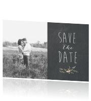 Save the Date krijtbord foto
