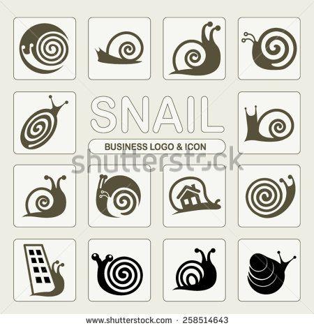 Abstract snail business icon and logo design vector. - stock vector