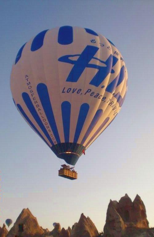 【H.I.S.】【気球体験 * Cappadocia】なんとこんな気球もあるんです。気球に揺られてみるカッパドキアの日の出の美しさは言葉にできません。