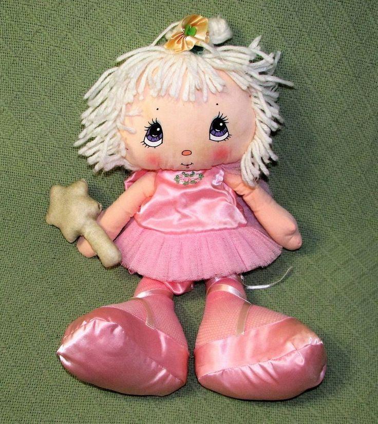 "Vintage 1983 Graphics International 19"" PINK BALLERINA Doll Plush Stuffed Animal #GraphicsInternational"