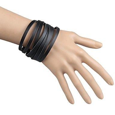 Feest/Dagelijks/Causaal/Sport - Vriendschap armbanden/Wrap Bracelets/Vintage Armbanden/Lederen armbanden ( Legering/Leder , Zwart/Wit/Rood/Bruin ) – EUR € 4.89