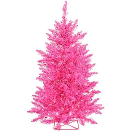 Vickerman 3' Hot Pink Artificial Christmas Tree with 70 Pink LED Lights