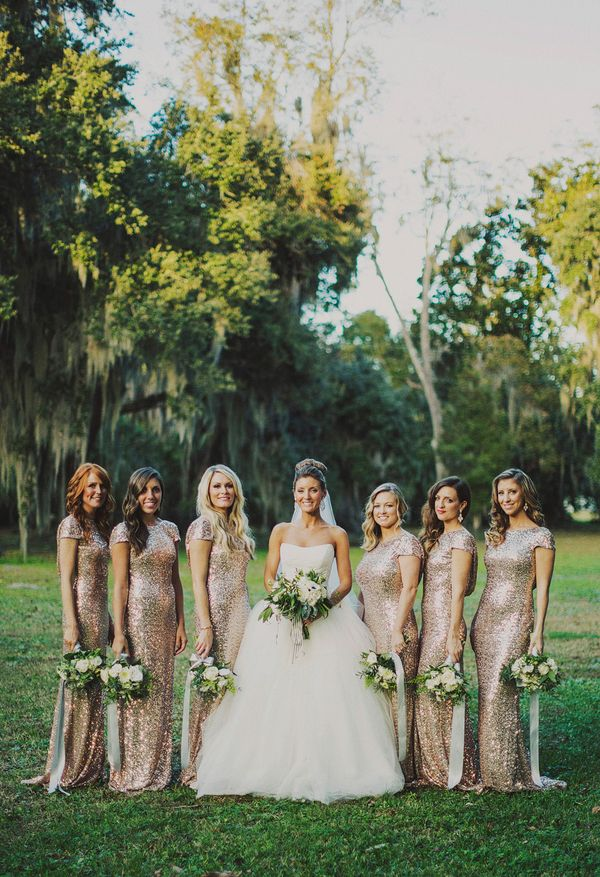 gorgeous gold bridesmaid dresses | Ariel Renae #wedding