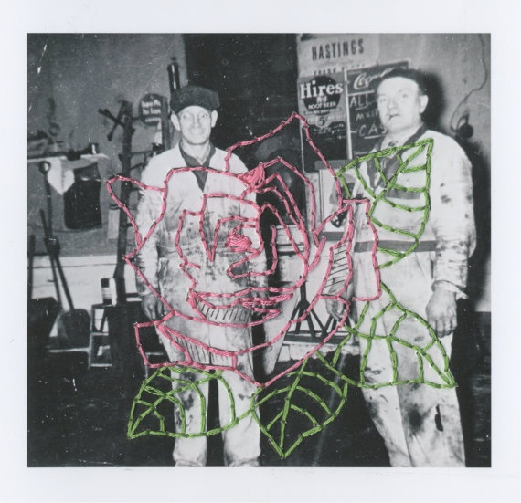 The Craftsmen 1 (Mechanic Series) Embroidered Photograph - Patrick Bodnar    #art #embroidery #photography