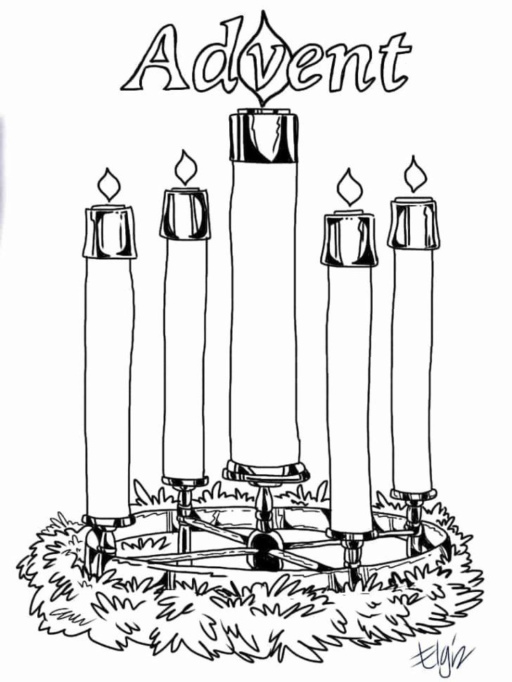 Advent Wreath Coloring Page Catholic Lovely Advent Wreath Coloring Picture Tag 35 Outstanding Advent Christmas Coloring Pages Advent Coloring Advent Candles