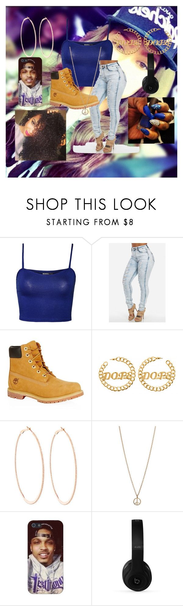 """""""boss"""" by zaralover242 ❤ liked on Polyvore featuring beauty, WearAll, Timberland, Rosa de la Cruz, Minor Obsessions and Beats by Dr. Dre"""