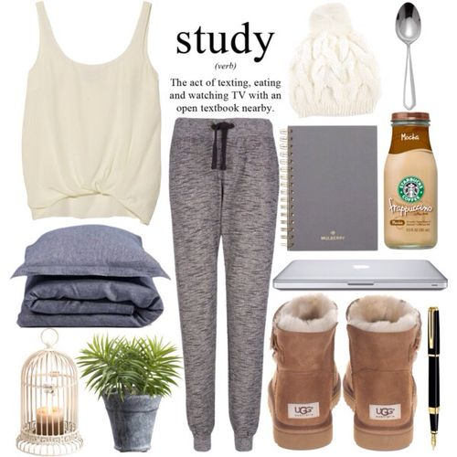 Idk about studying that way but I love these comfy looking marl pants