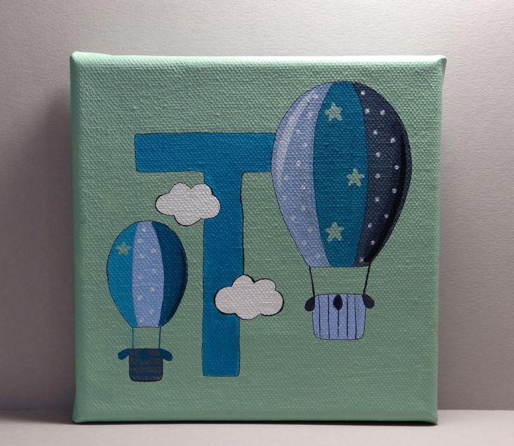 Tableau pour chambre d'enfant montgolfières