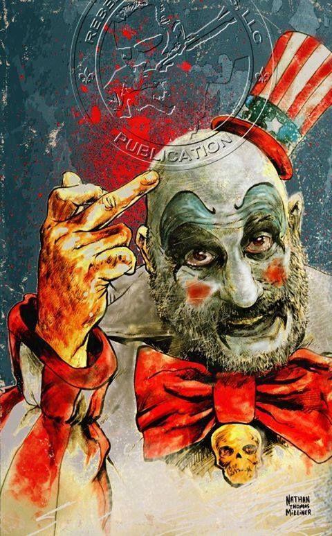 Captain Spaulding art by Nathan Thomas Milliner