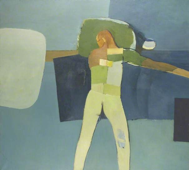 The Bather by John Keith Vaughan Date painted: 1960 Oil on canvas, 114.5 x 127 cm