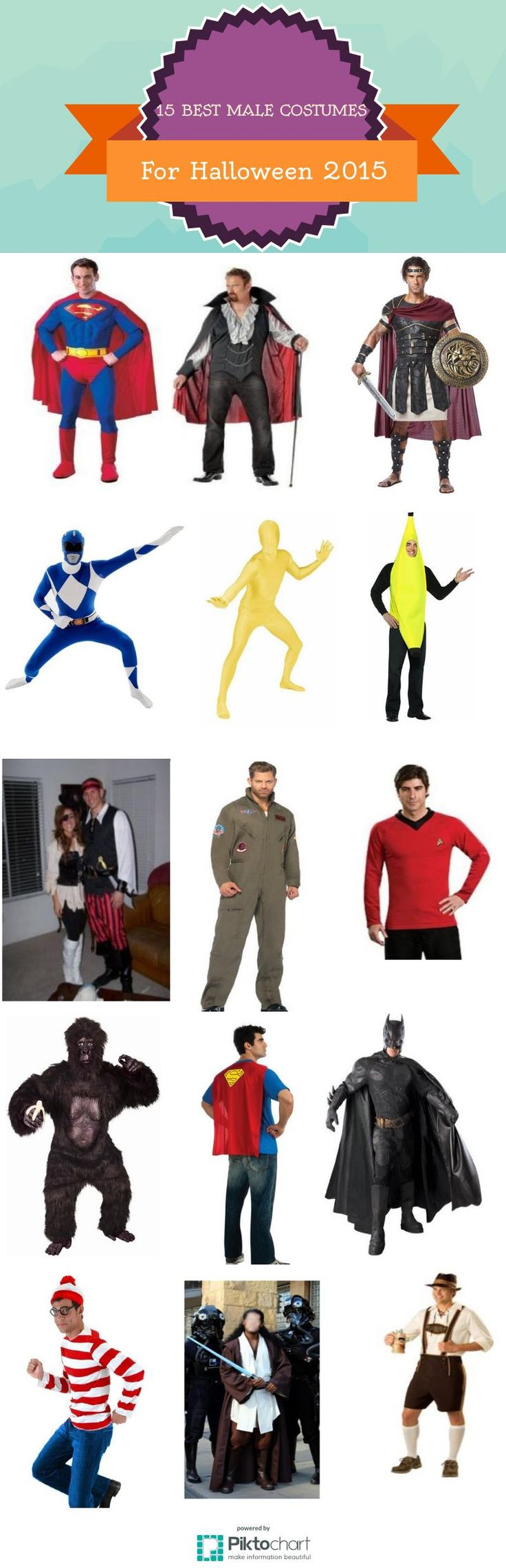 Best Male Halloween Costumes 2015. Some have gone cool and cute, often go with characters from movie flicks. #halloween #costume