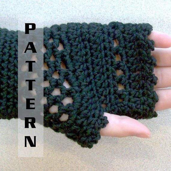 Steampunk Fingerless Gloves Mittens Arm Warmers Victorian Goth - Crochet Pattern 509  INSTANT DOWNLOAD on Etsy, $4.99