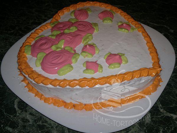 Торт Творожный на День Валентина. Теперь по 160 грн/кг!