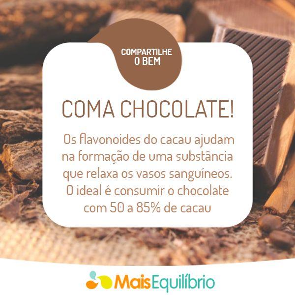Xô hipertensão! Veja outros 8 alimentos que podem ajudar no controle da pressão arterial http://maisequilibrio.com.br/9-alimentos-que-ajudam-no-controle-da-hipertensao-2-1-1-779.html #chocolate #saude