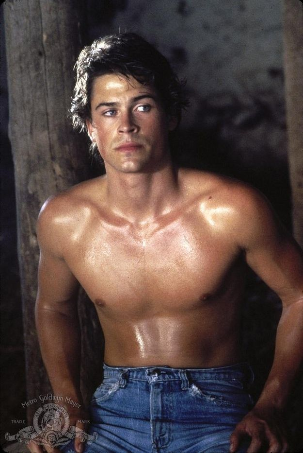 When he was wearing mom jeans in a stable drenched in a bucket of oil. | 27 Flawless And Perfect Photos Of Young Rob Lowe
