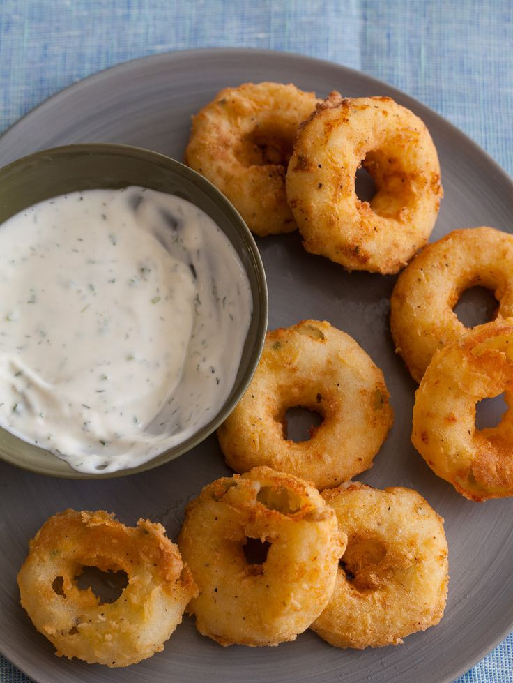 Potato Rings with Homemade Buttermilk Ranch {thinking they really don't have to be rings - wasted potato! - JY}