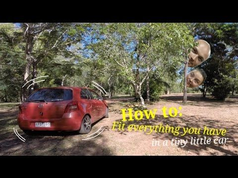 Living big in a tiny car. See how we fit our whole lives into our #ToyotaYaris on our #AustralianRoadTrip. #Camping #ourtinylittleworld