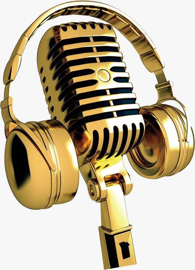 Golden Microphone Music Images Music Wallpaper Art Music