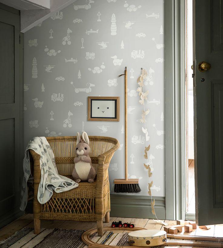 How To Style Nurseries | Brio Icons Wallpaper by Borastapeter | Jane Clayton