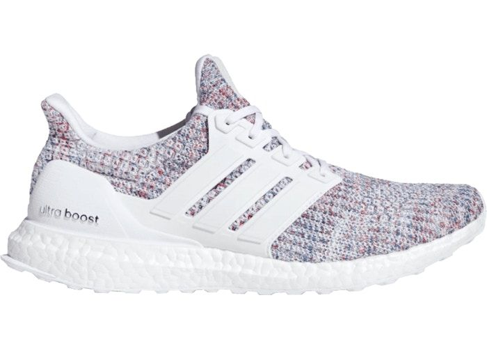 Adidas Ultra Boost 4 0 White Multi Color 2 In 2020 Adidas Shoes Women Adidas Ultra Boost Women Running Shoes For Men