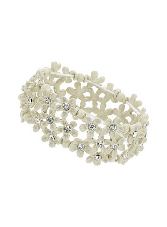 Stone Flower Cluster Bracelet
