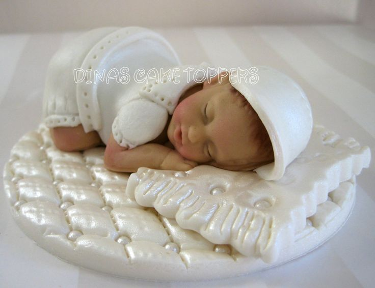 cake toppers | Baptism Christening Cake Topper white gown boy by DinasCakeToppers