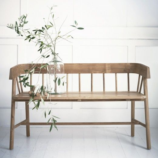 Byron Indoor-Outdoor Bench from Rowen & Wren                              …