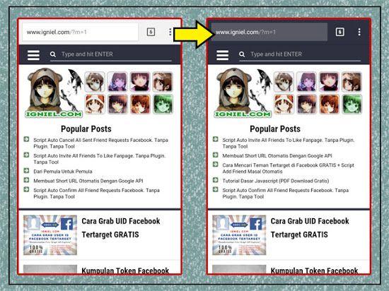 Mengganti Warna Address Bar Browser Handphone Agar Sesuai Layout Blog
