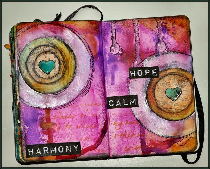 Creativity: harmony..(mini art journal book)
