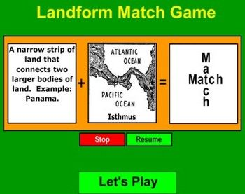 A matching game where these terms are looked at:Delta, Prime Meridian, Estuary, Island, River Basin, Strait, Ring of Fire, Landlocked, Altitude, ...: Prime Meridian, Grade Social, Rivers T-Shirt, Rivers Basin, Matching Games, Third Grade, Rings Of Fire, Social Study, 3Rd Grade