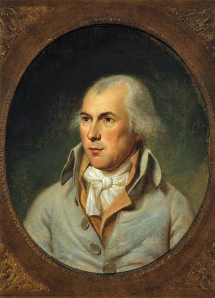 James Madison by Charles Willson Peale. Founding Father, principal author of the Constitution, 4th President  of the United States (1809-1817..during the War of 1812). As a political theorist, Madison's most distinctive belief was that the new republic needed checks and balances to protect individual rights from the tyranny of the majority.