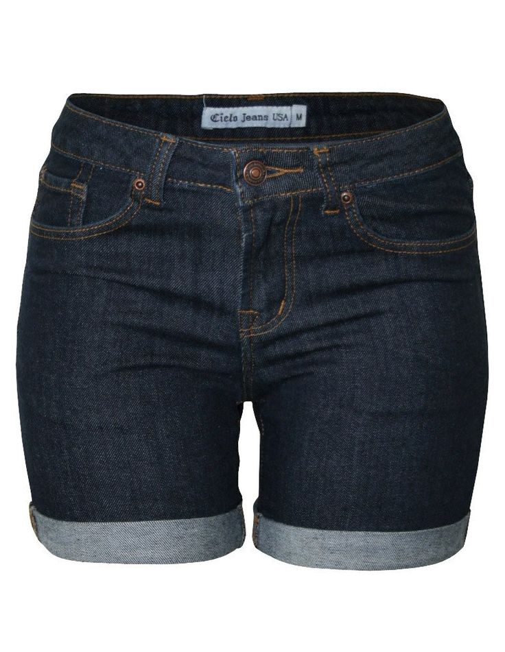 Cielo Denim Bermuda Shorts Dark Blue 011