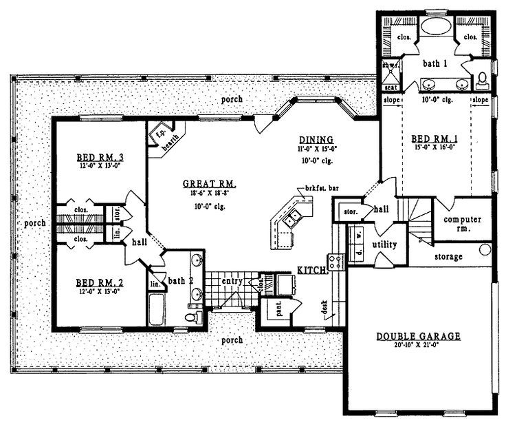 Steel frame house floor plans architectural designs for Metal a frame house kits