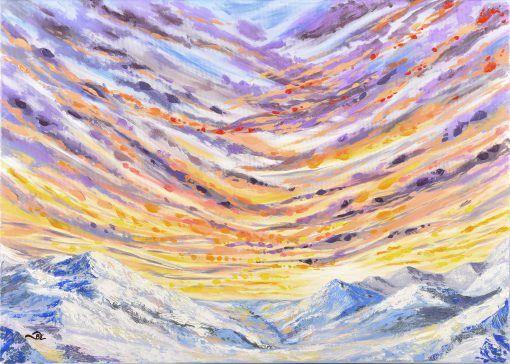 Akril festmény, mely vakrámára feszített vászonra készült. Impasto technikával készült. A festmény keret nélkül rendelhető meg, akár egyből a falra akasztható. Az aláírás a festmény sarkán, illetve a hátulján található.