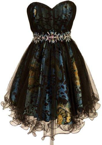 Zeilei Strapless Sweet 16 Short Prom Homecoming Babydoll Dress