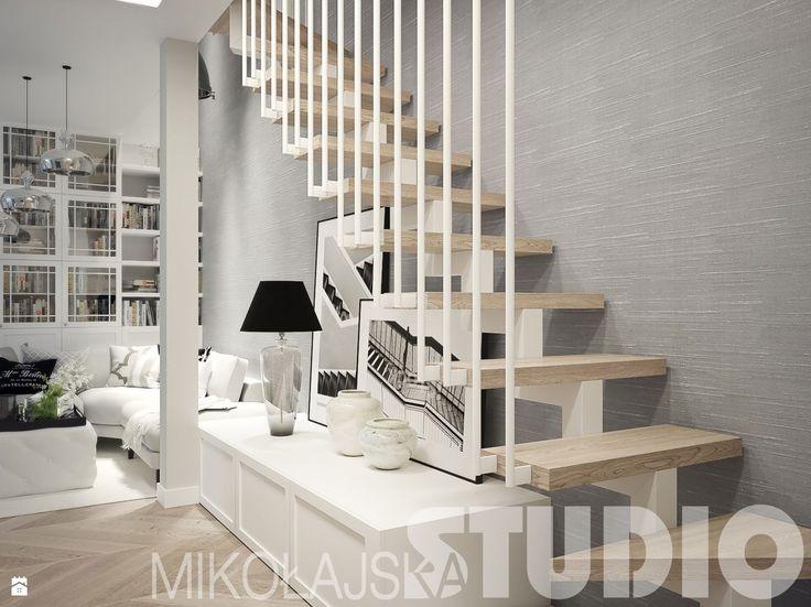 schody w salonie - zdjęcie od MIKOŁAJSKAstudio - Schody - Styl Glamour - MIKOŁAJSKAstudio